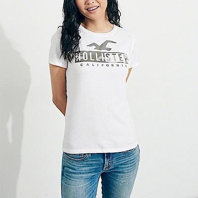 HCO Hollister 海鷗 經典印刷文字大海鷗標誌短袖T恤(女)-白色