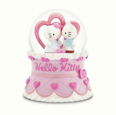 限時特價 JARLL讚爾丹尼爾hello kitty音樂盒 音樂鈴 水晶球 雪球擺飾 情人節禮物 結婚禮物