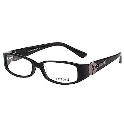 PLAYBOY-時尚光學眼鏡-黑色-PB85182