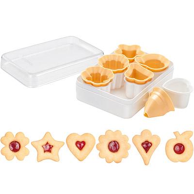 TESCOMA 盒裝林茲眼睛餅乾模6件(經典)