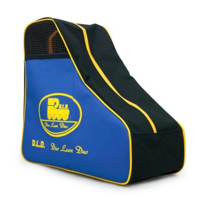 DLD多輪多 專業直排輪 溜冰鞋 三角背包 黑藍黃