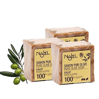 正宗敘利亞NAJEL初榨橄欖阿勒坡皂200g三入