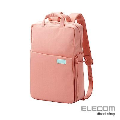 ELECOM 帆布3WAY薄型後背包  S粉紅