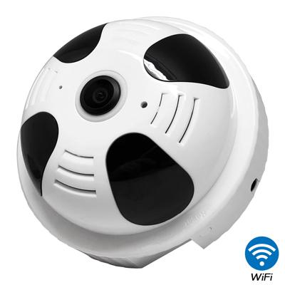 CHICHIAU 奇巧 WIFI無線全景偵煙器造型環景360度紅外夜視網路攝影機