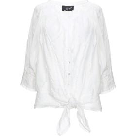 《セール開催中》GLAM ANGELO MARANI レディース シャツ ホワイト 40 コットン 100%