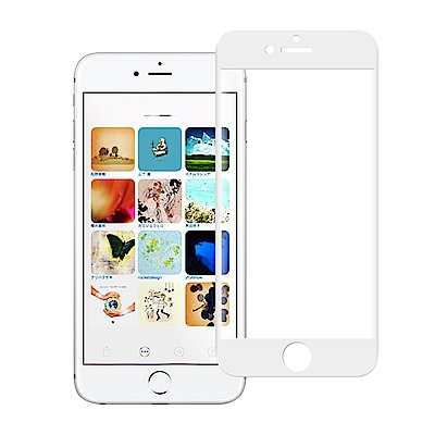 NISDA for iPhone 8 Plus / 7 Plus滿版3D電鍍精雕玻璃貼-白