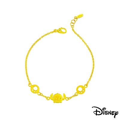 Disney迪士尼系列金飾 黃金手鍊 史迪奇足跡款