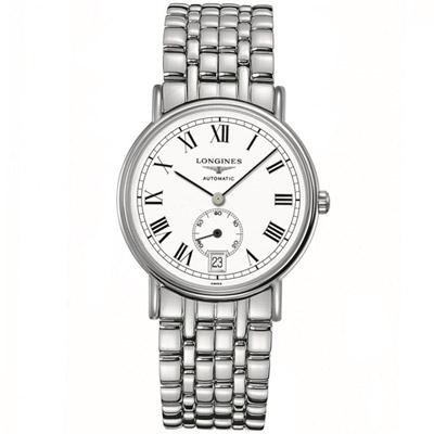 LONGINES 浪琴 時尚系列經典小秒針腕錶 銀色 38.5mm L48054116