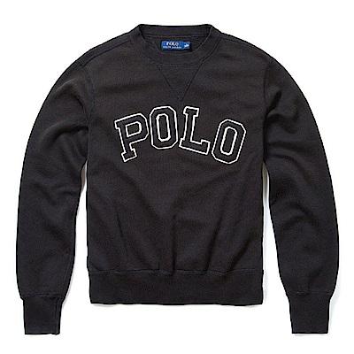 Polo Ralph Lauren 年度熱銷經典刺繡標誌鋪棉大學T恤-黑色