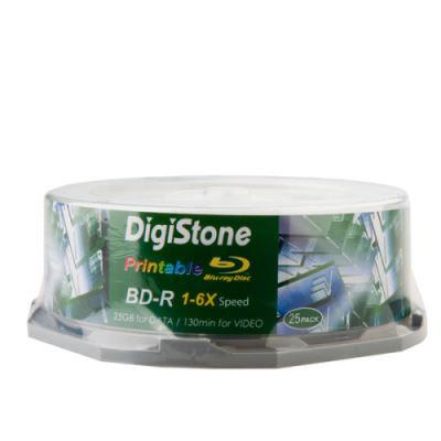 DigiStone 精選A+藍光6X BD-R 25GB 滿版可印桶裝 (25片)