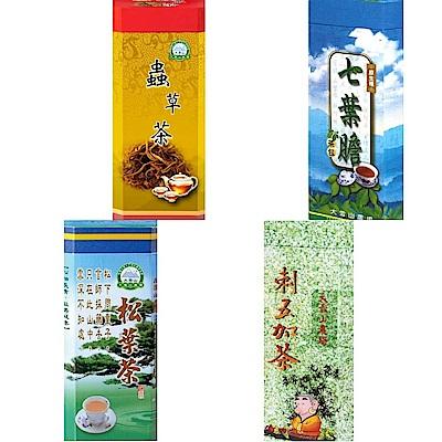大雪山農場 明日葉茶/七葉膽茶/刺五加茶/松葉茶/冬蟲茶(任選1大瓶/送2小瓶)
