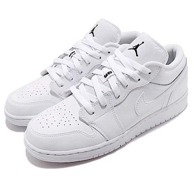 品牌: NIKE型號: 553560-101品名: Air Jordan 1 Low GS配色: 白色特點: 休閒鞋 低筒 喬丹 AJ1 皮革 大童 女