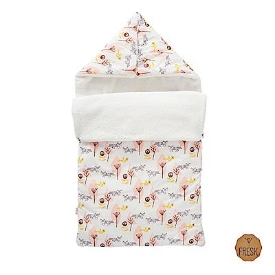 荷蘭 FRESK 嬰幼兒有機棉保暖睡袋 (粉紅小狐狸)