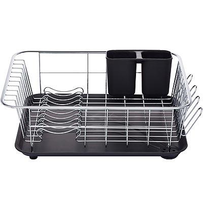 《KitchenCraft》集水盤+餐具碗盤瀝水架(黑)