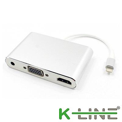 k-Line Apple影音傳輸線 iPhone/iPad to HDMI VGA MHL