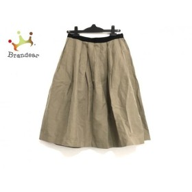マーガレットハウエル MargaretHowell スカート サイズ2 M レディース 美品 ライトブラウン×黒   スペシャル特価 20190912