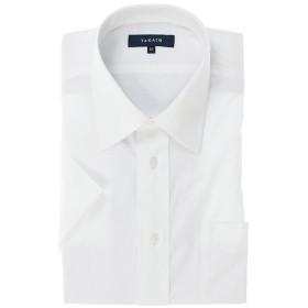【10%OFF】 タカキュー 形態安定レギュラーフィットレギュラーカラー半袖シャツ メンズ ホワイト LL(XL) 【TAKA-Q】 【タイムセール開催中】