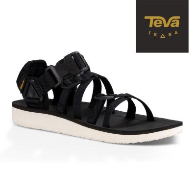 【TEVA】原廠貨 女 Alp Premier 羅馬織帶運動涼鞋/雨鞋/水鞋(黑色-TV1015182BLK)