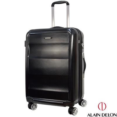 ALAIN DELON 亞蘭德倫  25吋極致碳纖維紋系列旅行箱  黑