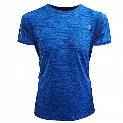 EGXtech EDS-ET 男款涼感單導排汗短袖(麻花藍)一般袖款