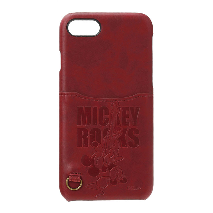 iPhone 8/7  皮革背蓋口袋系列(日本 海外限定版) -搖滾米奇