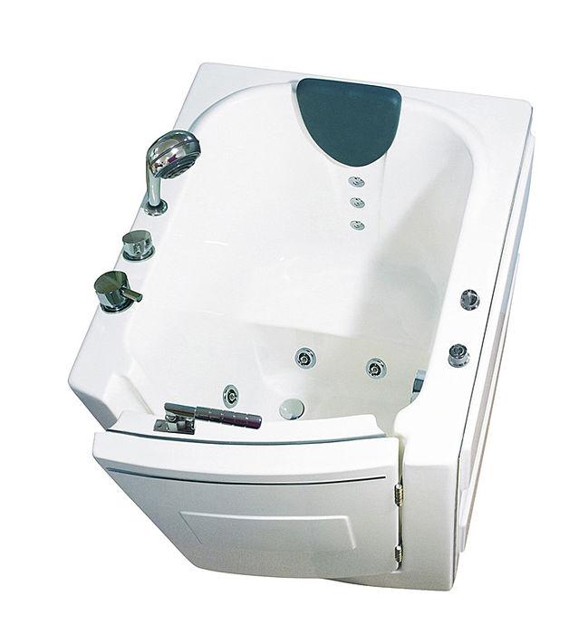 【海夫健康生活館】開門式浴缸 內開式 101-R 氣泡按摩款 (95*85*100cm)