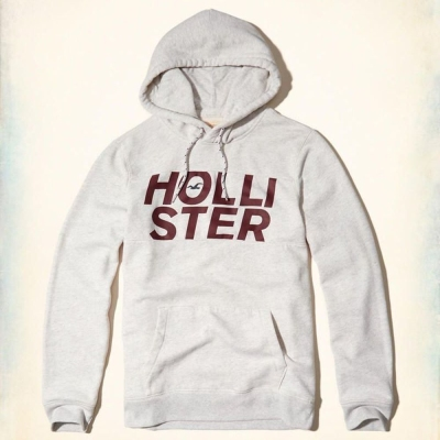 Hollister HCO 長袖 帽T 白色 0289