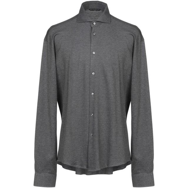 《期間限定セール開催中!》BRIAN DALES メンズ シャツ 鉛色 42 100% コットン