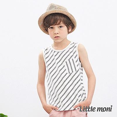 Little moni 簡約條紋背心 (2色可選)