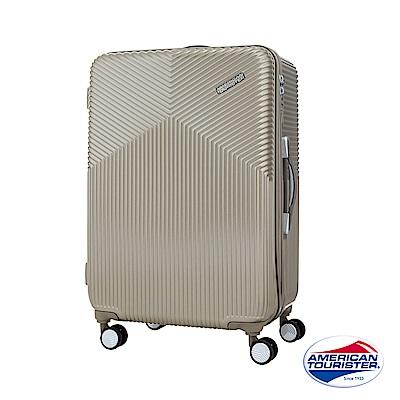 AT 美國旅行者 25吋Air Ride 2/8開彈力滑輪PC硬殼行李箱 霧金 DL9*16002