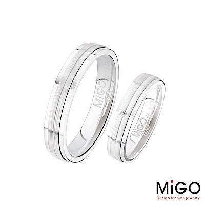 MiGO 米格鋼飾 約定純銀成對戒指