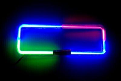 飛馳車部品~4車用音響主機音感霓虹燈框(也可長亮)1DIN 三色紅藍綠 絕版貨特價 數量有限售完為止