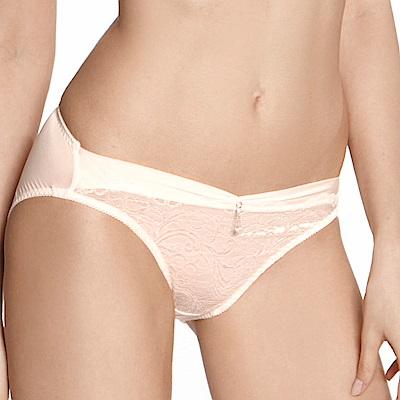 LADY 維納斯系列 蕾絲中腰三角內褲 (螢亮粉)