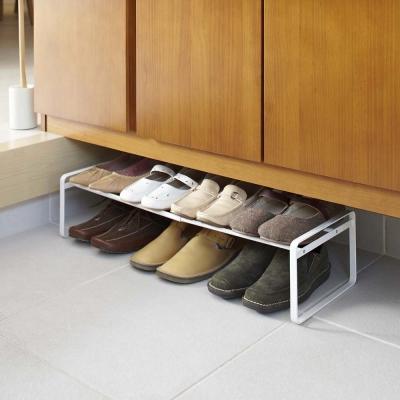 日本【YAMAZAKI】frame都會簡約伸縮式鞋架-白★高跟鞋架/萬用收納/鞋櫃/靴架