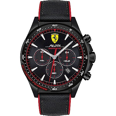 Scuderia Ferrari 法拉利 Pilota 賽車手計時錶(FA0830623)
