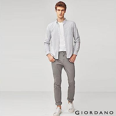 GIORDANO 男裝超彈力基本款錐形長褲-06 灰色
