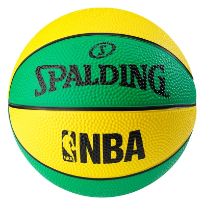 SPALDING NBA NO.1 迷你小球 黃/綠