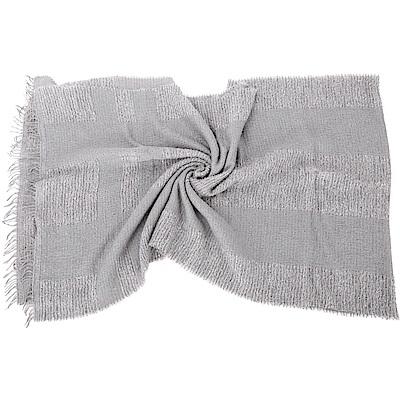 FABIANA FILIPPI 莫代爾羊絨灰色亮片拼接馬海毛流蘇圍巾