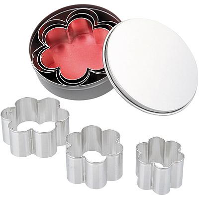 IBILI 錫盒大小餅乾模6件(花)