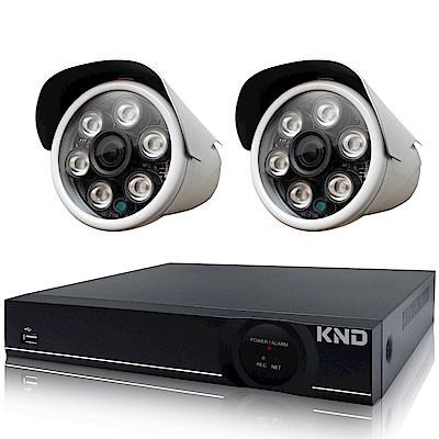 奇巧 4路1080P台製KND單硬碟款主機-含四合一SONY 200萬攝影機x2