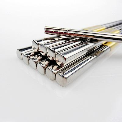 佶之屋 304不鏽鋼半手工方形筷 5雙 ( 長23.5cm)