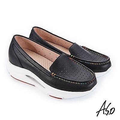 A.S.O 阿瘦 超能力氣墊系列 機能休閒鞋 黑 10029000605-99
