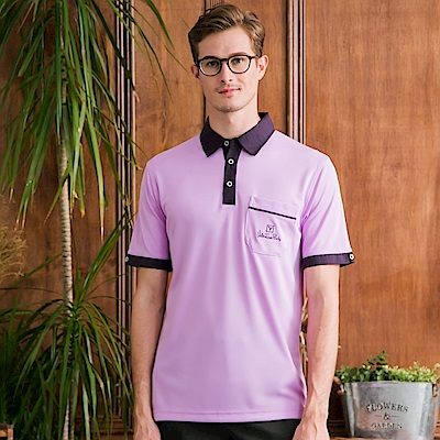 Valentino Rudy 范倫鐵諾.路迪 吸濕排汗襯衫領Polo衫 亮紫