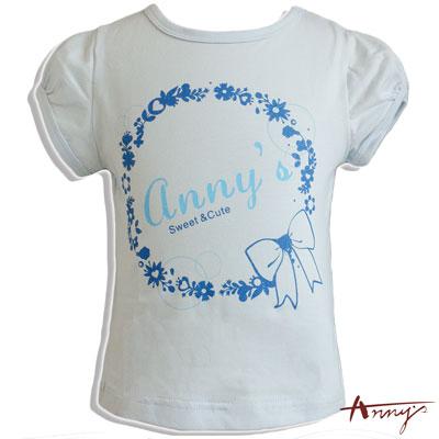Annys安妮公主浪漫花圈短袖上衣*6338水藍