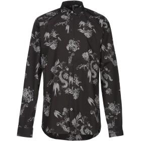 《期間限定セール開催中!》BOLONGARO TREVOR メンズ シャツ ブラック 36 コットン 100%