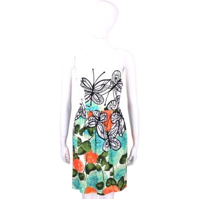 I'm Isola Marras 白色花卉蝴蝶圖印無袖洋裝