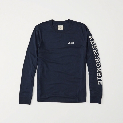 AF a&f Abercrombie & Fitch 長T 藍色 0208