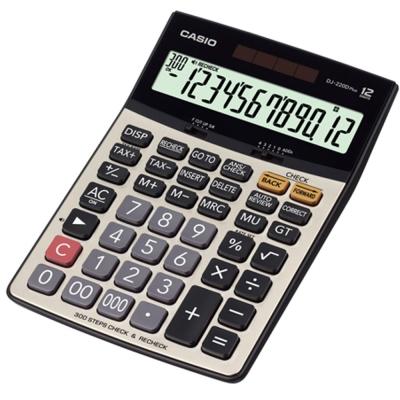 CASIO 12位元 桌上檢視步驟記憶型商用計算機DJ-220DPLUS