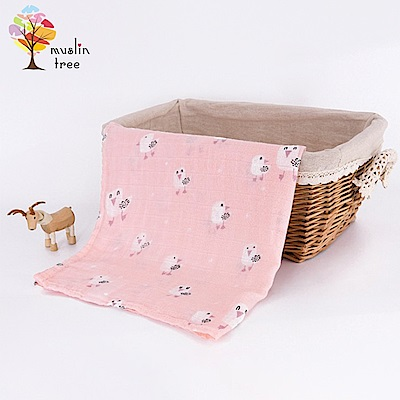 Muslin tree【2入】童趣系雙層紗布包巾嬰兒空調蓋被