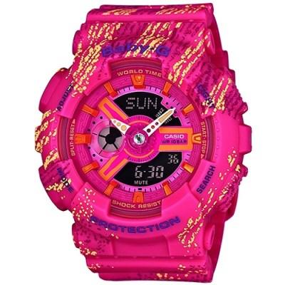 BABY-G 少女時代漸層感霧狀腕錶(BA-110TX-4A)-桃紅/43.4mm